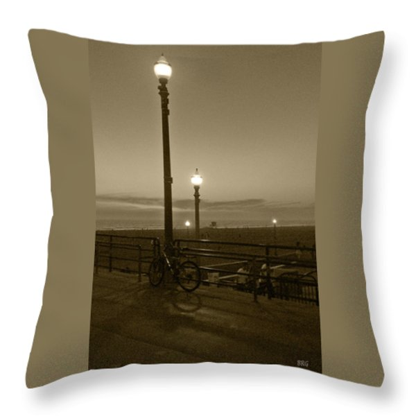 Beach At Night Throw Pillow by Ben and Raisa Gertsberg