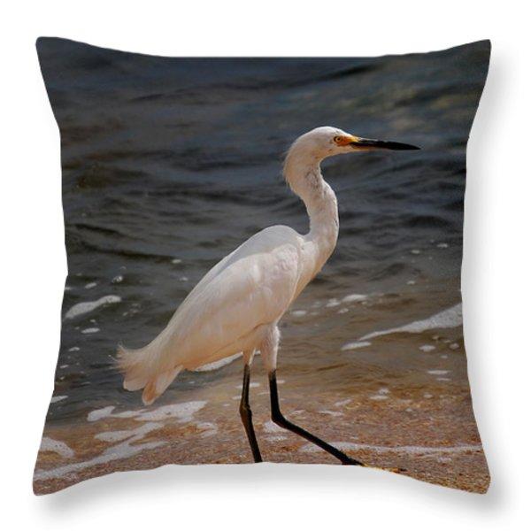 BEACH BUM Throw Pillow by Skip Willits