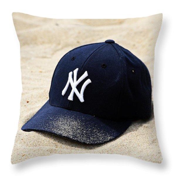 Beach Cap Throw Pillow by John Rizzuto