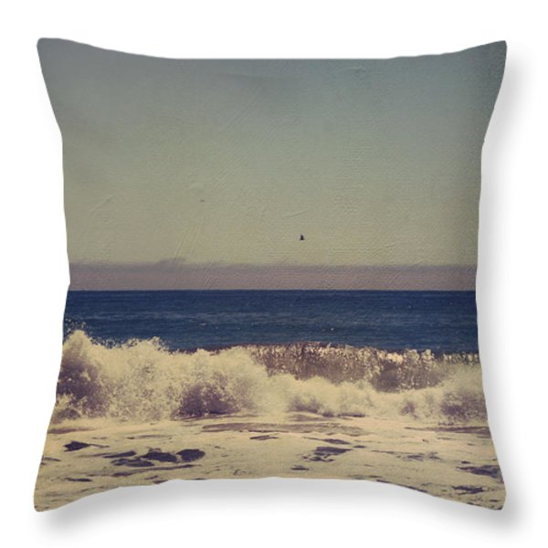 Beach Days Throw Pillow by Laurie Search