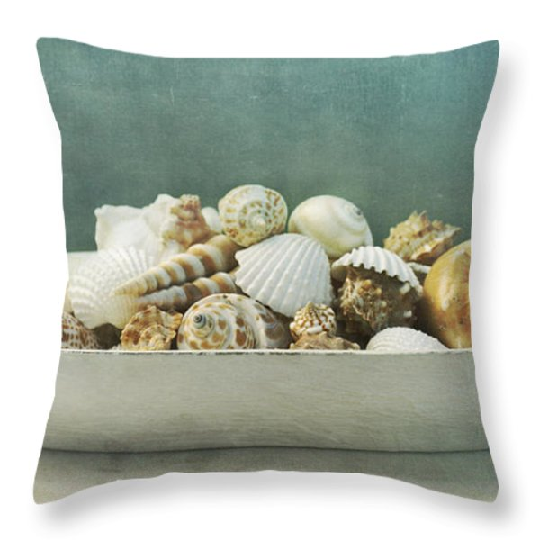beach in a bowl Throw Pillow by Priska Wettstein