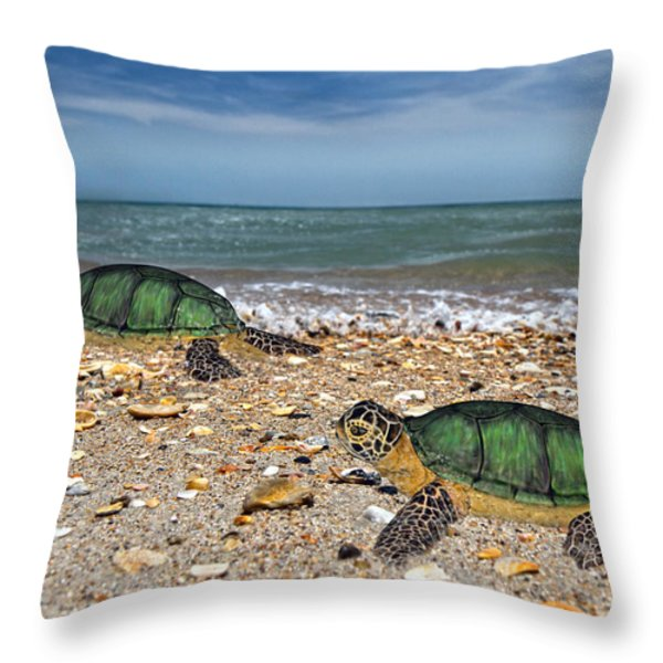 Beach Pals II Throw Pillow by Betsy A  Cutler
