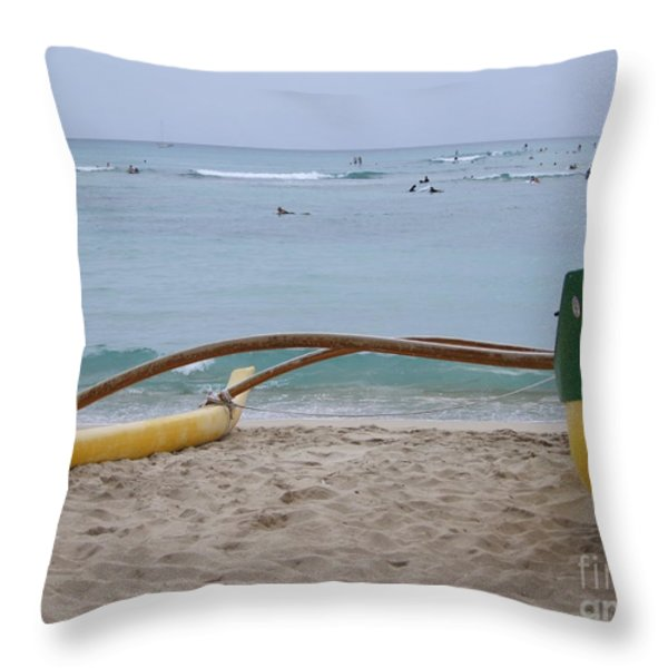 Beach Play Throw Pillow by Mary Deal