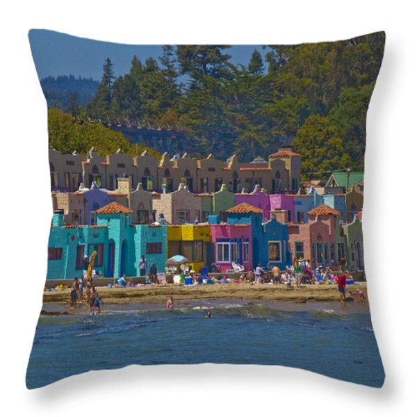 Beach Play Throw Pillow by Tom Kelly
