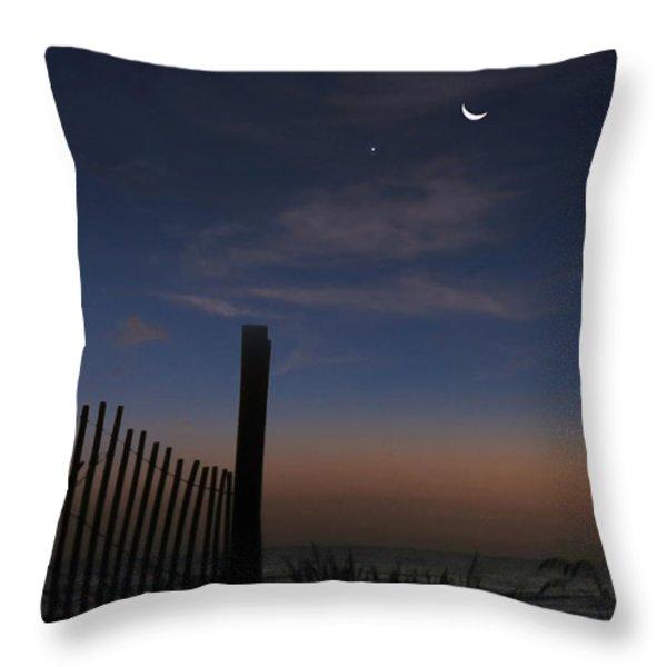 Beach Sunrise October Throw Pillow by Deborah Smith