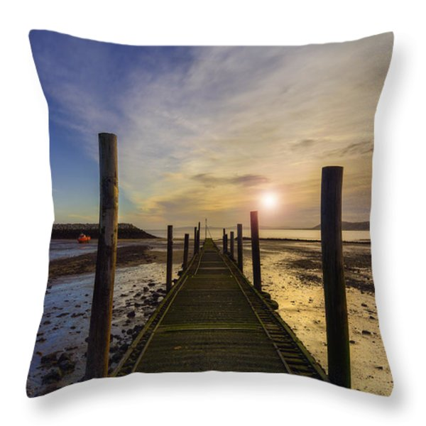 Beach Sunrise V2 Throw Pillow by Ian Mitchell