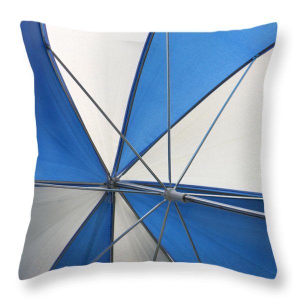 Beach Umbrella Throw Pillow by Art Block Collections