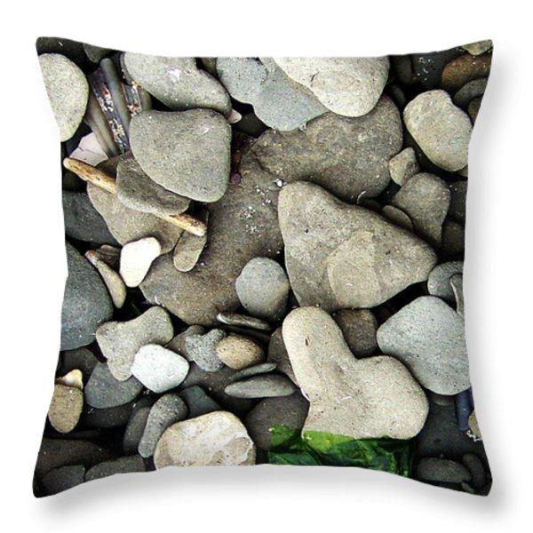 Beach Valentine Throw Pillow by Rebecca Sherman