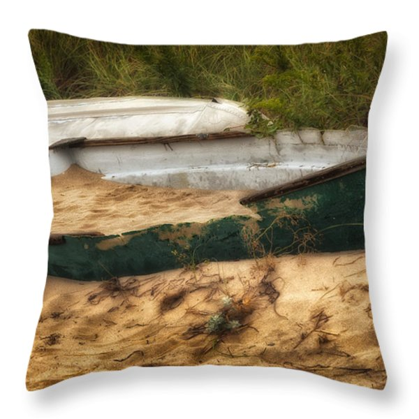 Beached Throw Pillow by Bill  Wakeley