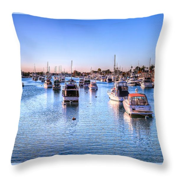 Beacon Bay Throw Pillow by Jim Carrell