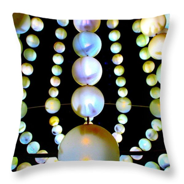 Beads Throw Pillow by Randall Weidner