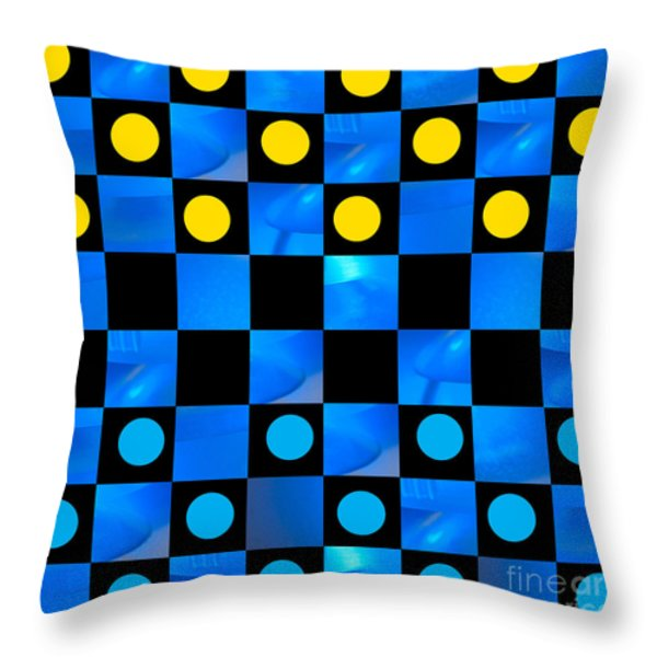 Beat The Blues Throw Pillow by Lena Wilhite