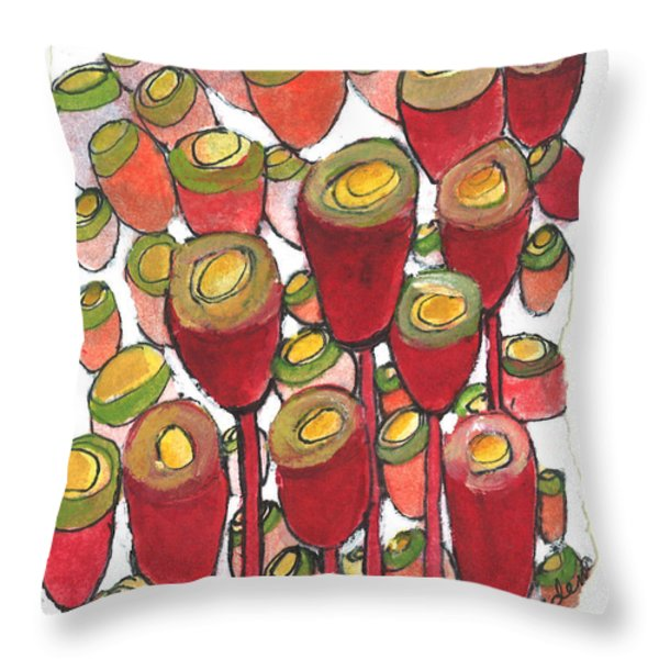 Beating of the Drum Throw Pillow by Sherry Harradence