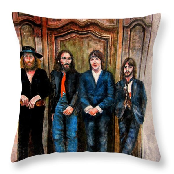 Beatles Hey Jude Throw Pillow by Leland Castro