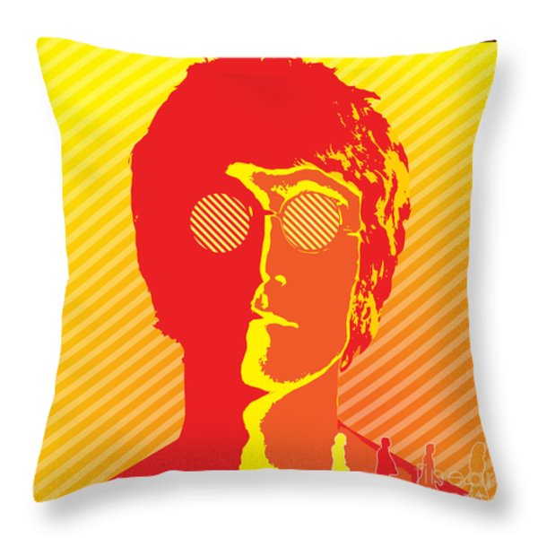 Beatles Vinil Cover Colors Project No.03 Throw Pillow by Caio Caldas