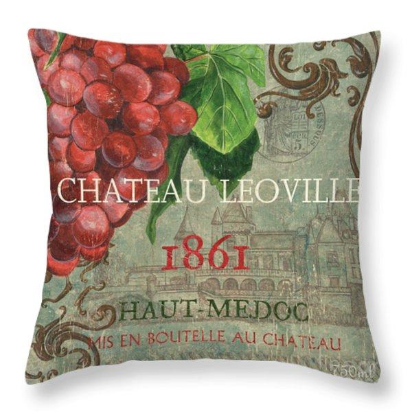 Beaujolais Nouveau 1 Throw Pillow by Debbie DeWitt