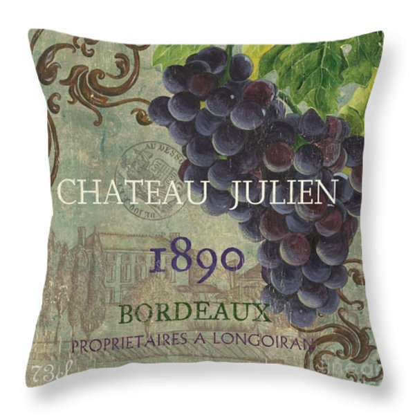 Beaujolais Nouveau 2 Throw Pillow by Debbie DeWitt