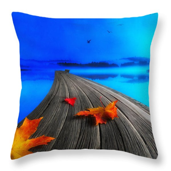 Beautiful Autumn Morning Throw Pillow by Veikko Suikkanen