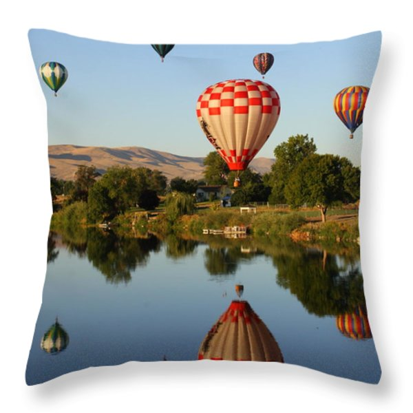 Beautiful Balloon Day Throw Pillow by Carol Groenen