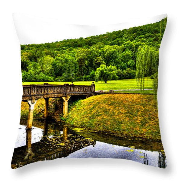 Beautiful Blowing Spring Park Throw Pillow by David Patterson