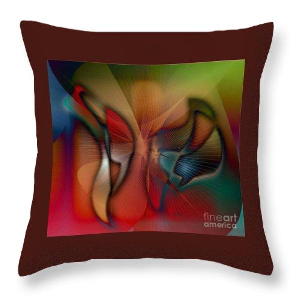 Beautiful Catch Throw Pillow by Iris Gelbart