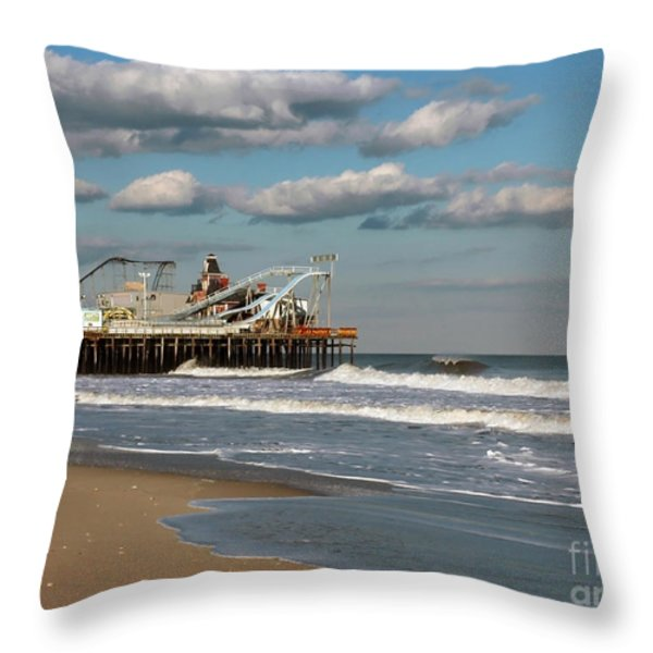 Beautiful Day At The Beach Throw Pillow by Photoart BySaMi