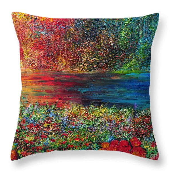 BEAUTIFUL DAY Throw Pillow by TERESA WEGRZYN
