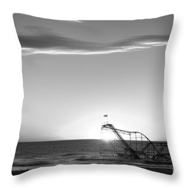 Beautiful Disaster Bw Throw Pillow by Michael Ver Sprill
