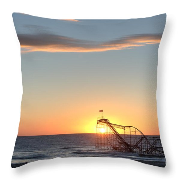 Beautiful Disaster Throw Pillow by Michael Ver Sprill