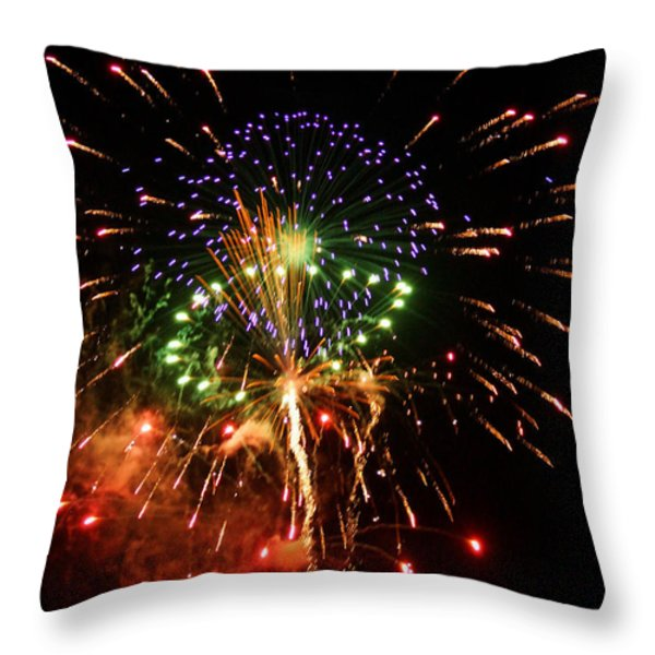 Beautiful Fireworks Works Throw Pillow by Kim Pate