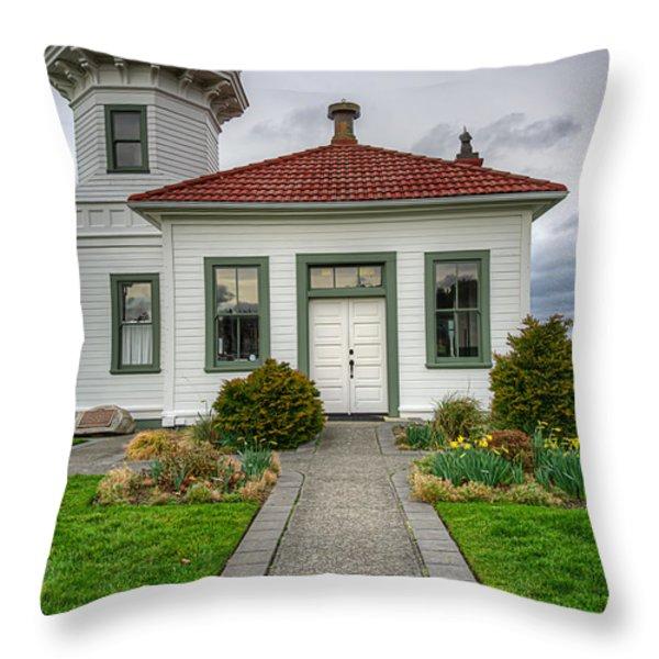 Beautiful Lighthouse Throw Pillow by Spencer McDonald