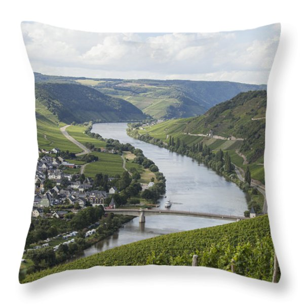 Beautiful Mosel River Throw Pillow by Patricia Hofmeester