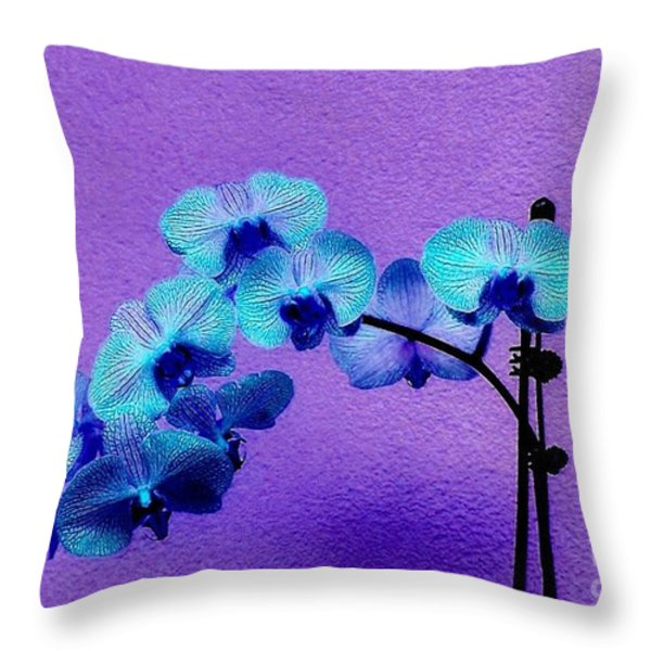 Beautiful Orchids Throw Pillow by Annie Zeno