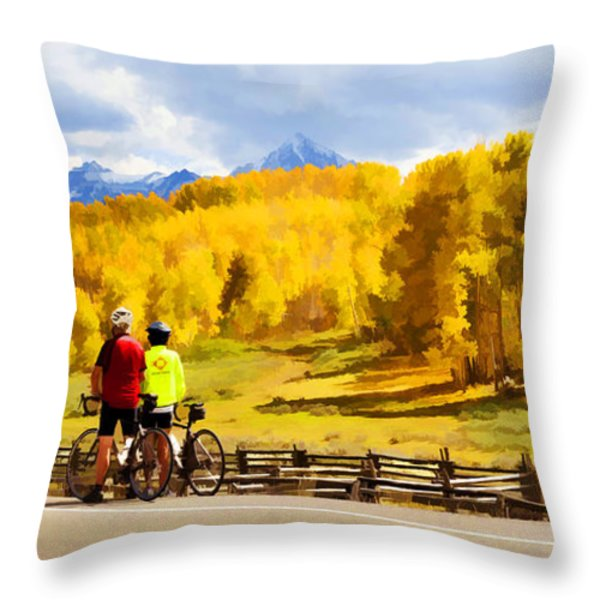 Beautiful Rest Stop Throw Pillow by Rick Wicker