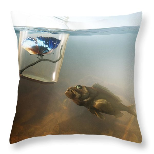 Beauty And The Beast Throw Pillow by Cynthia Decker
