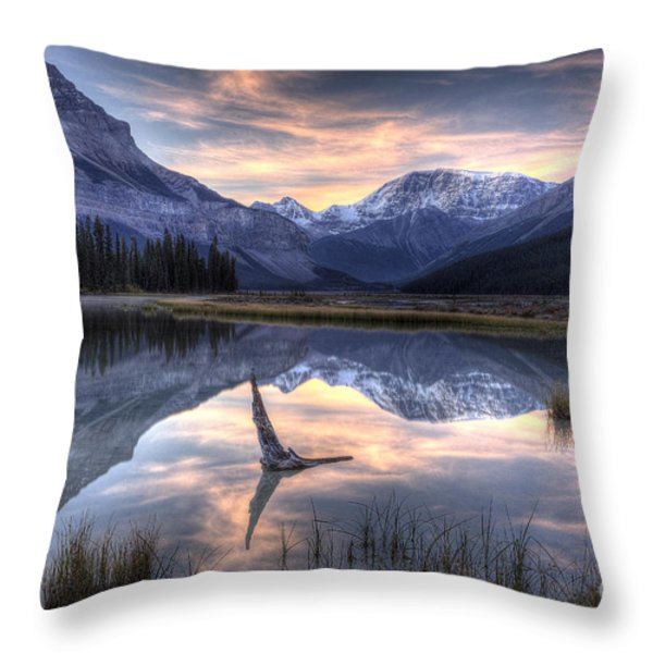 Beauty Creek Pre-Dawn Throw Pillow by Brian Stamm
