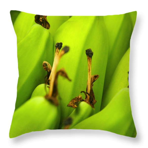 Beauty In Bannanas Throw Pillow by Justin Woodhouse