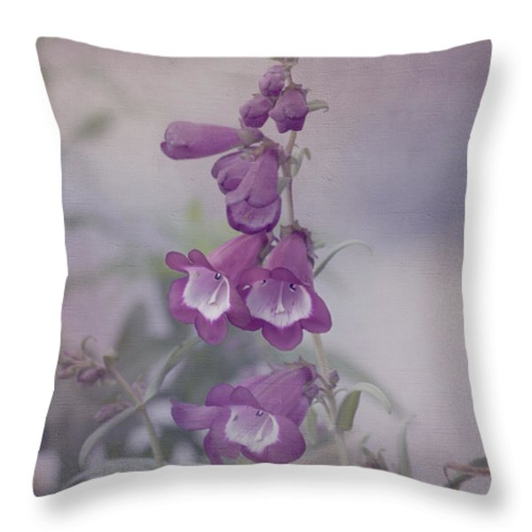 Beauty in Purple Throw Pillow by Kim Hojnacki