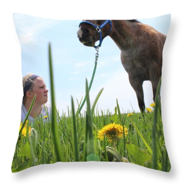 Beauty Throw Pillow by Tiffany Erdman