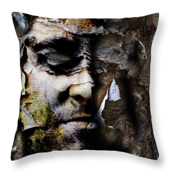 Becoming New Throw Pillow by Christopher Gaston