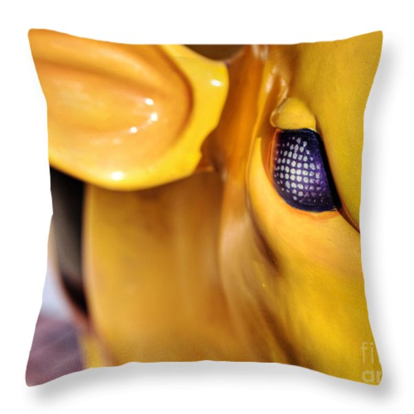 Bee Bullseye Throw Pillow by Emily Enz
