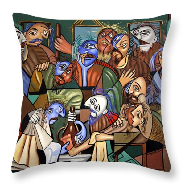 Before The Last Supper Throw Pillow by Anthony Falbo
