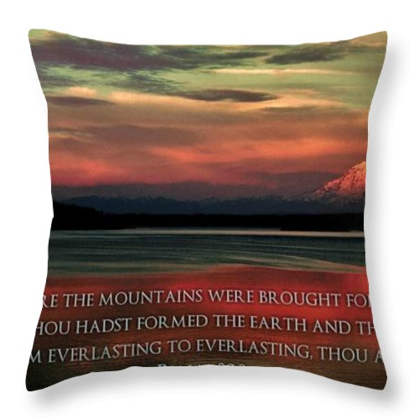 Before The Mountains Throw Pillow by Benjamin Yeager