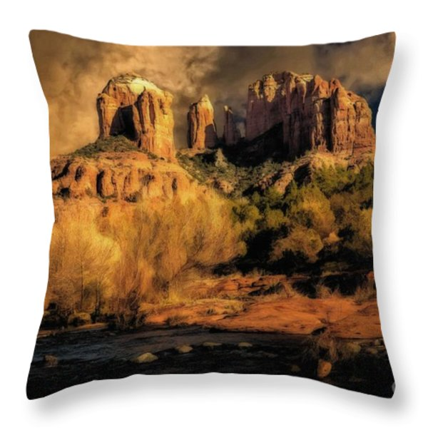 Before The Rains Came Throw Pillow by Jon Burch Photography