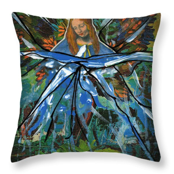 Before We Drain In The Snow Throw Pillow by Genevieve Esson