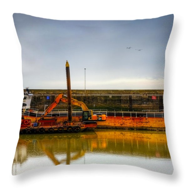 Before Working Day Throw Pillow by Svetlana Sewell