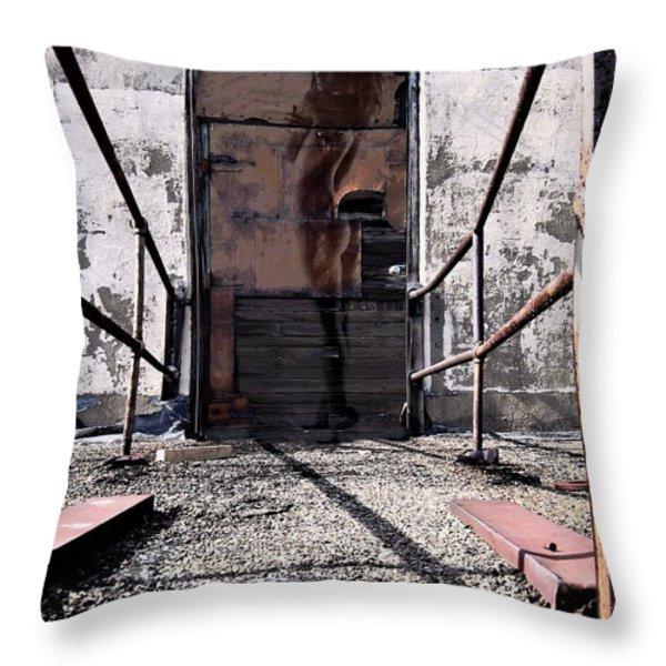 Behind Door No. One Throw Pillow by Andrea Kollo