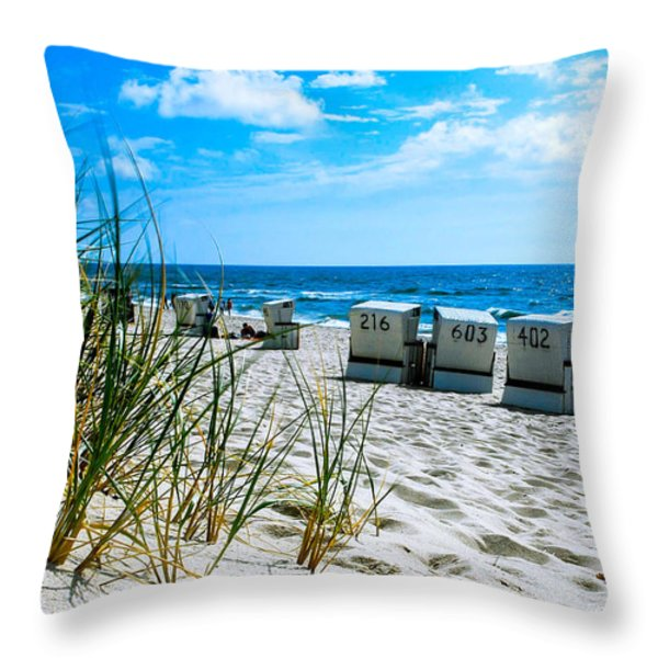 Behind The Dunes -light Throw Pillow by Hannes Cmarits