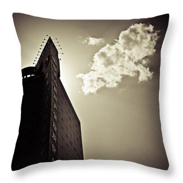 Beijing Cloud Throw Pillow by Dave Bowman