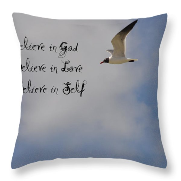 Believe In Throw Pillow by Bill Cannon
